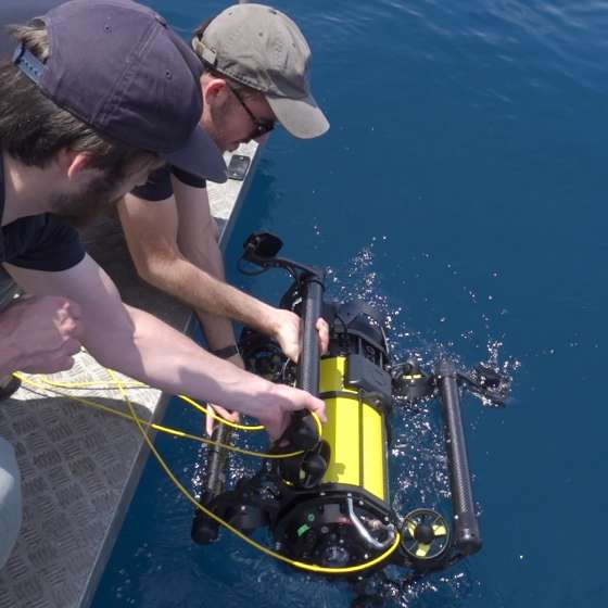 Boxfish Luna sea deployment from the boat team of two