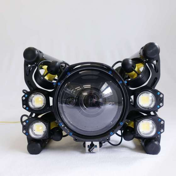 Boxfish Luna underwater cinematography drone with additional lighting
