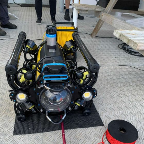 Boxfish ROV with Blueprint Subsea USBL and Multibeam Sonar during underwater search and recovery mission